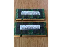 4GB Kit 2x2GB RAM Samsung PC2 5300S Sodimm ddr2 667Mhz 204-Pin Memory for Mac