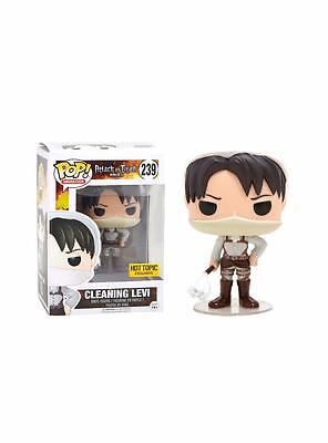 Funko Attack On Titan POP! Animation Cleaning Levi Figure Hot Topic Exclusive