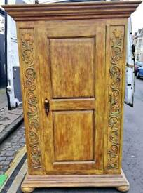 Vintage solid oak wardrobe