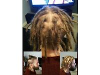 Dreads/dreadlock maintenance and start up. Braid extentions