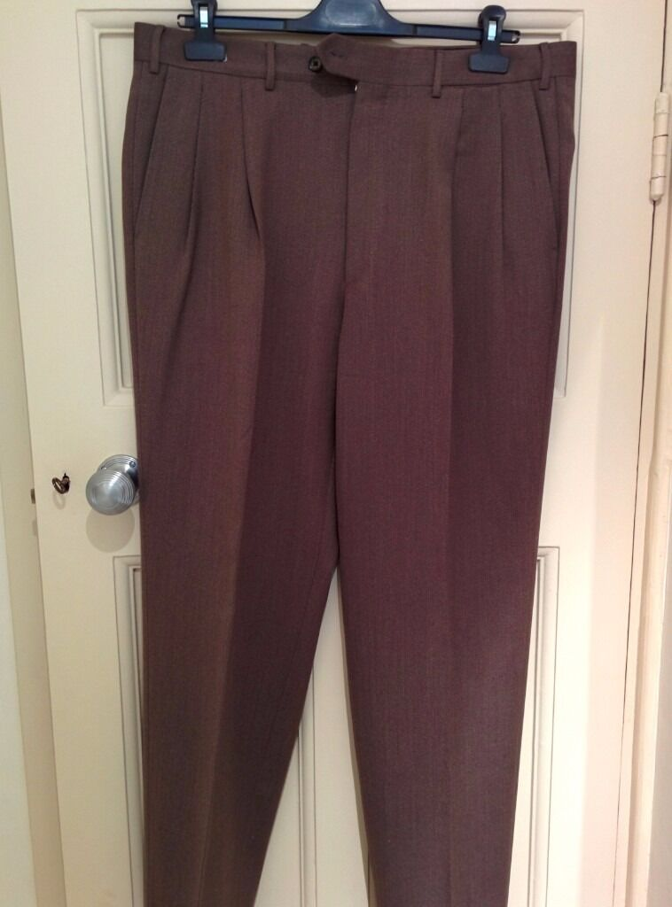 Original Italian Cornelliani Men's Brown Trousers, Like NEW, Size 52/6/R, RRP £240