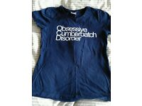 Obsessive Cumberbatch Disorder Blue Tshirt - Small - Never Worn