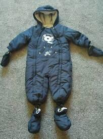 Boys fleece lined winter suit, 12 - 18 mths. Never worn.