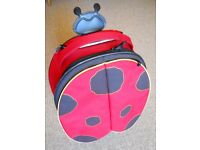 SAMSONITE 'SAMMIES' KIDS LADYBIRD PULL ALONG TRAVEL BAG