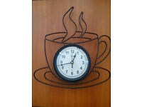 Camden wall clock - coffee time