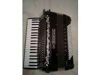 Bugari Superfisa Black Accordion 120 Bass 4 voice (LMMH)