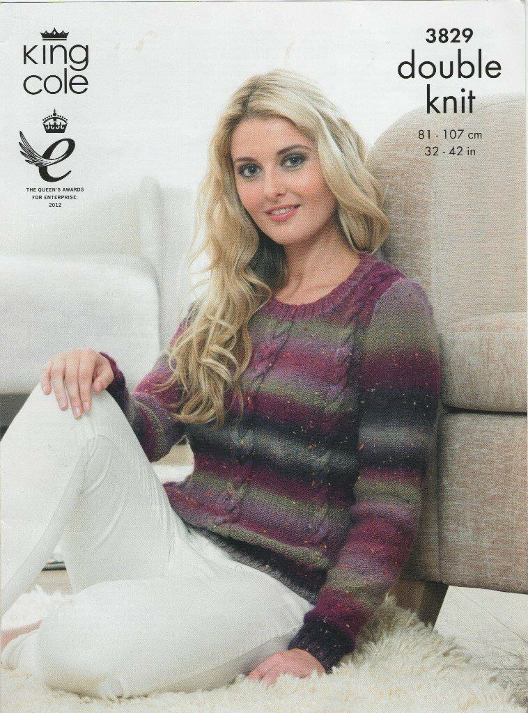 Lovely Easy Cable Knitting Pattern For Ladies Jumper In Whitchurch