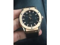 Rose and black hublot fusion watch auto