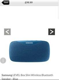Samsung LEVEL Box Slim Wireless Bluetooth Speaker Blue