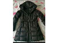 Zara coat jacket M feather down vgc