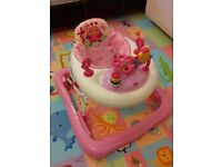 Bright Starts Juneberry Walk-A-Bout Walker (Pink, 1year used)