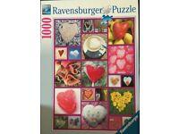 Love Hearts 1000 Piece Ravensburger Jigsaw Puzzle