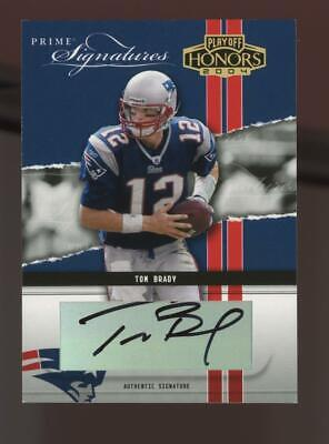 2004 Playoff Honors Prime Signatures Tom Brady Jersey #12/25 Auto Autograph