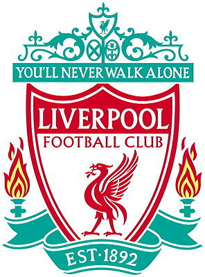 Liverpool Vinyl DieCut Sticker Decal Logo Football Soccer 4 Stickers