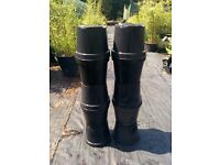 10 x 10 litre Black Plastic Plant Pots - Used, but clean condition - 15 Sets Available