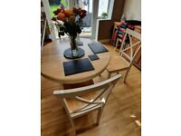 (reduced) Epsom Cream Extending Dining Table w/4 Chairs (£889 new) - open to offers