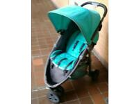 Buggy GRACO EVO mini with moveable wheels.