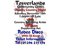 Country night at Towerlands community centre on November 10th 2018