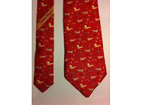 Genuine Salvatore Ferragamo Tie, NIOB (new in its original box)