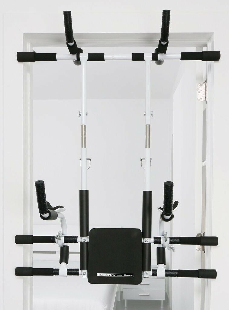 Doorway Fitness Tower Home Gym System Horizontal Pull Up Bar
