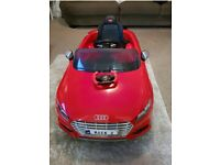 Childrens red audi remote control and self drive car