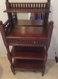 Antique Telephone Table - Stained Oak in Excellent Condition