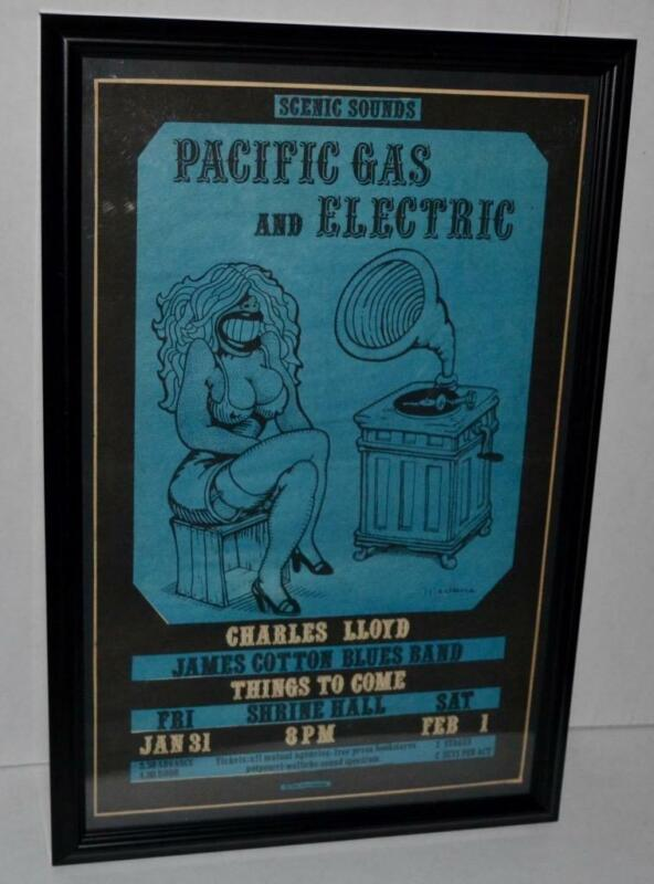 PACIFIC GAS & ELECTRIC 1969 JAMES COTTON CHARLES LLOYD PROMO CONCERT POSTER / AD