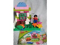 Lego Duplo Gardener & Rabbits + Instructions