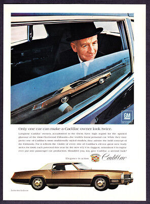 "1968 Cadillac Fleetwood Eldorado photo ""Owners Admire the Bold Concept"" print ad"