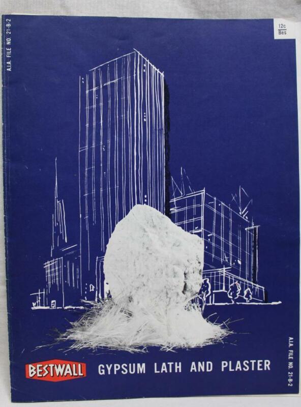 2 BESTWALL GYPSUM DRYWALL BUILDING SALES GUIDE BROCHURE 1957 & 1960 VINTAGE