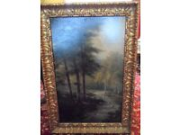 Famous British Listed Artist Samuel John BARNES (1847-1901) 1899 Large oil on board.