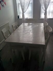 IKEA Ingatorp Extendable Table with 5 Chairs