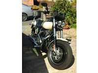 Harley Davidson Dyna Fatbob in stunning condition, 103 Cubic Inch ( 1690 cc ) Matt Sand Camo.