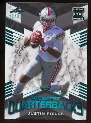 2021 Leaf Ultimate Quarterbacks Light Blue XRC Justin Fields /30 RC Rookie
