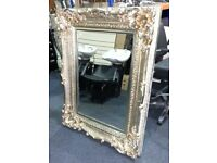 96cm x 127cm Bright Gold Ornate Framed Mirror, £99