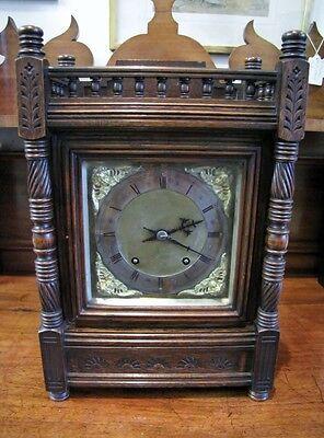Winterhalder & Hofmeier Oak Cased Ting Tang  Mantel Clock