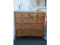 Old Solid Wood 3+2 Drawer Chest for Sale
