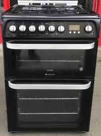 //(%)\ HOTPOINT DUAL FUEL COOKER INCLUDES 6 MONTHS GUARANTEE