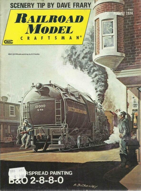 Railroad Model Craftsman August 1974 CRI&P Observation Lounge Plans Grow Vines