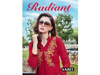 RADIANT VOL-4 WHOLESALE ETHNIC READYMADE KURTIS IN TEXTILEDEAL.IN