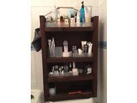 Rustic Handmade Wooden Bathroom Shelf