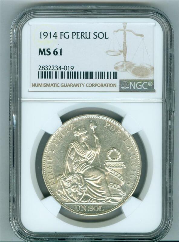 PERU 1914 FG SOL NGC MS-61 UNC