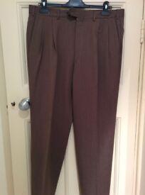 Italian Cornelliani Men's Brown Trousers, Like NEW, Size 52, RRP £240