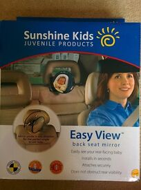 Easy View Back Seat Mirror by Sunshine Kids - boxed and unused