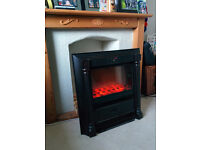 Electric fire with two power outputs