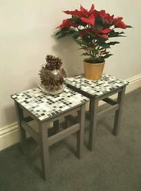 Mosaic top side tables