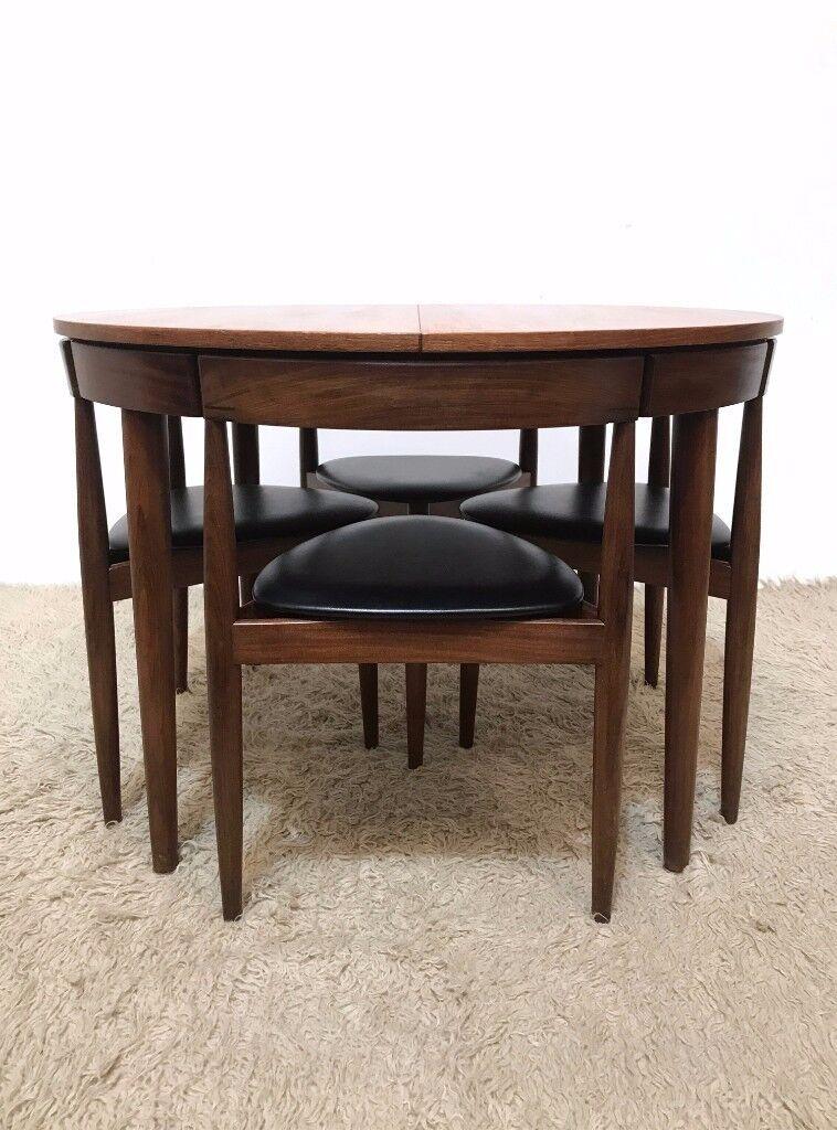 Rare 60s Danish Mid Century Vintage Hans Olsen For Frem Røjle Extending  Teak Dining Table And