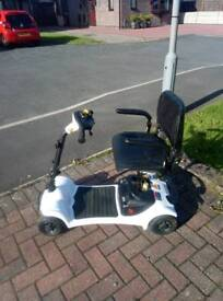 White Mobility scooter