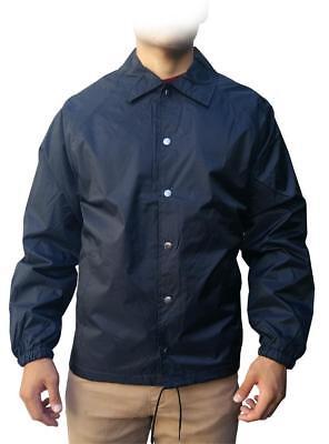 NW Men's Lightweight Waterproof Snap Button Up Windbreaker Coach Jacket all size - Lightweight Coachs Jacket