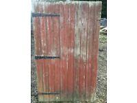 Wooden garden gate 149 x 92cm